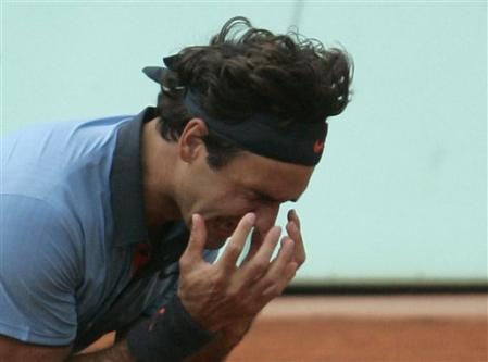 Roger Federer à Roland Garros